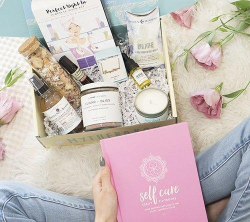 """This monthly box is all about self-care. All the products are curated by a therapist and designed to inspire you, boost your joy, and aid in self discovery. From tea to face masks, jewelry to candles, workbooks to aromatherapy oils, this box is packed with care and comfort in mind. $34.99, Therabox. <a href=""""https://www.mytherabox.com/"""" rel=""""nofollow noopener"""" target=""""_blank"""" data-ylk=""""slk:Get it now!"""" class=""""link rapid-noclick-resp"""">Get it now!</a>"""