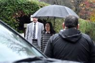 Huawei Technologies Chief Financial Officer Meng leaves her home to attend a court hearing in Vancouver