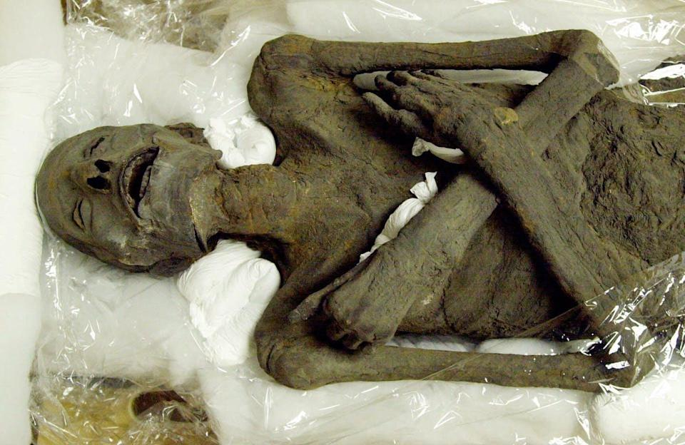 """<span class=""""caption"""">Who gets to decide for the dead, such as this Egyptian mummy? </span> <span class=""""attribution""""><a class=""""link rapid-noclick-resp"""" href=""""http://www.apimages.com/metadata/Index/Associated-Press-Domestic-News-Georgia-United-S-/ef10c29a61e5da11af9f0014c2589dfb/2/0"""" rel=""""nofollow noopener"""" target=""""_blank"""" data-ylk=""""slk:AP Photo/Ric Feld"""">AP Photo/Ric Feld</a></span>"""