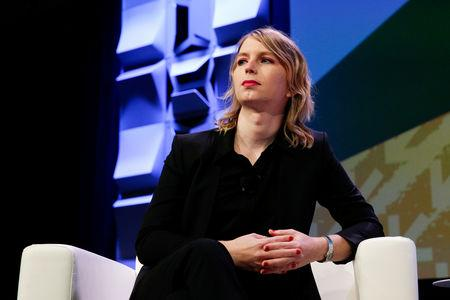 FILE PHOTO: Chelsea Manning speaks at the South by Southwest festival in Austin, Texas, U.S., March 13, 2018.  REUTERS/Suzanne Cordeiro/File Photo