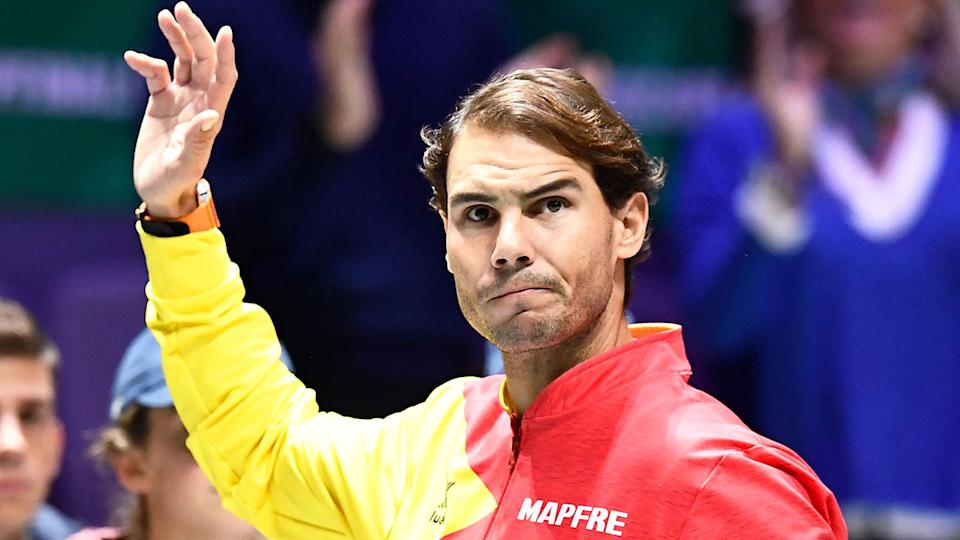 Pictured here, 19-time grand slam champion Rafael Nadal.