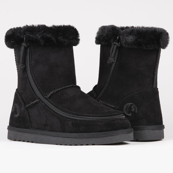 Kid's black billy cozy boot with zipper