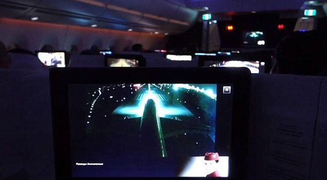 An image of the inflight entertainment system during the incident. Source: Supplied.