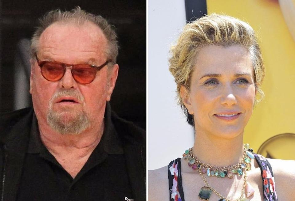 Jack Nicholson and Kristen Wiig, set to appear as father and daughter in 'Toni Erdmann' (credit: WENN.com)