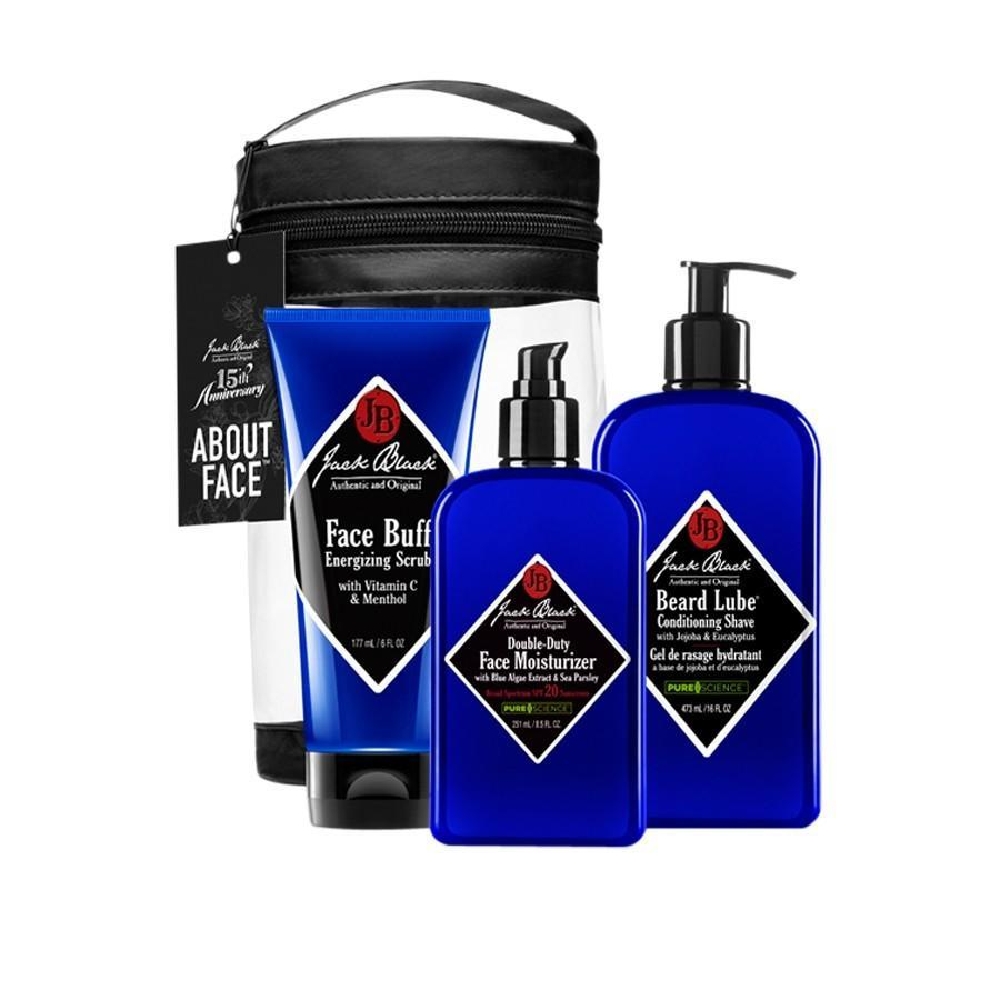 "<p>Too many dads just use soap and water for their daily face wash, and it's up to us to do something about it. This starter kit comes with face scrub, shave cream, and moisturizer for dads who need an upgrade to their morning routine. <b><a href=""http://www.getjackblack.com/Products/About-Face-Set__8113.aspx"" rel=""nofollow noopener"" target=""_blank"" data-ylk=""slk:Jack Black About Face Set"" class=""link rapid-noclick-resp"">Jack Black About Face Set</a> ($75)</b></p>"