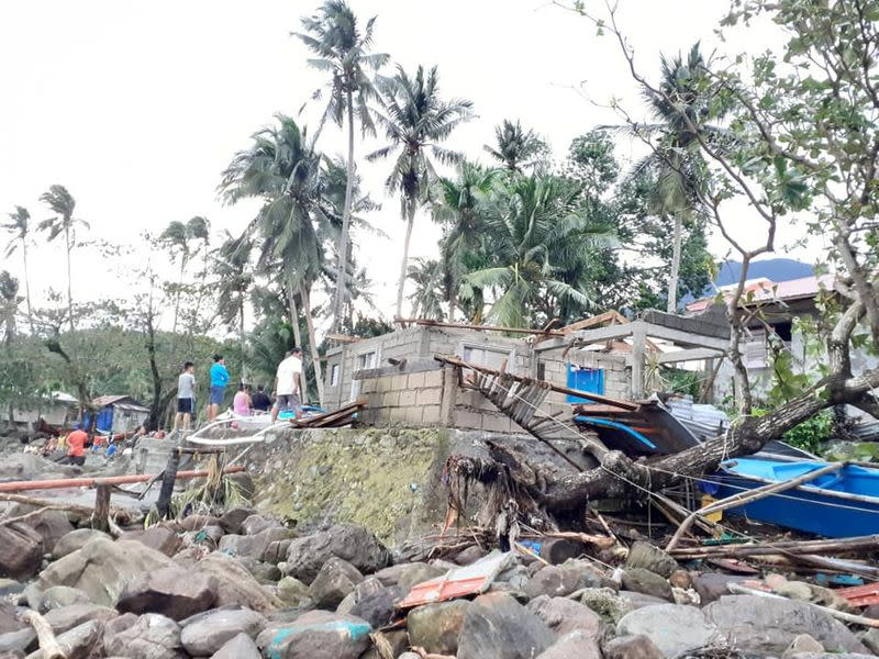 General view of storm debris in Biliran