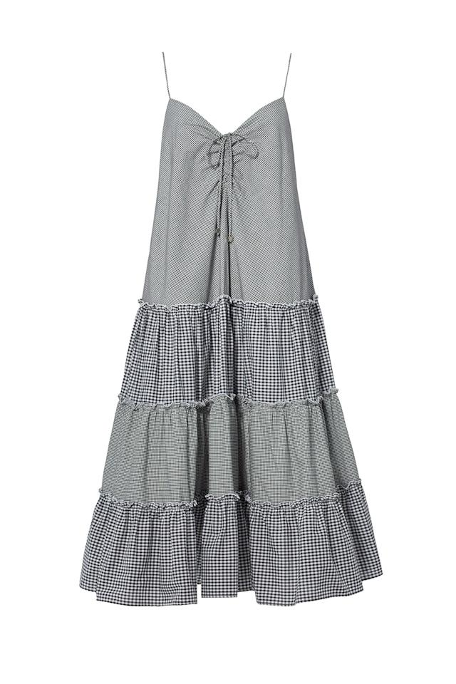 "$375, Rent the Runway. <a href=""https://www.renttherunway.com/shop/designers/nicholas/gingham_sweetheart_midi_dress"">Get it now!</a>"