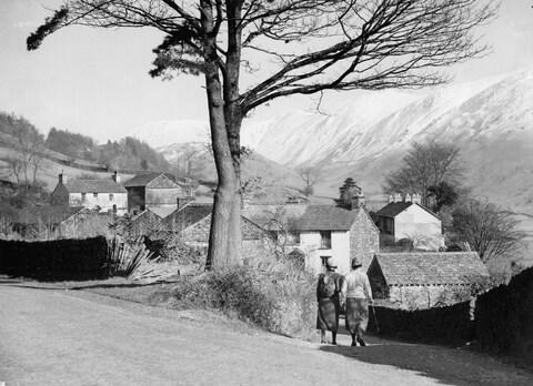 Walkers at Troutbeck, in the Lake District - Credit: IMAGNO