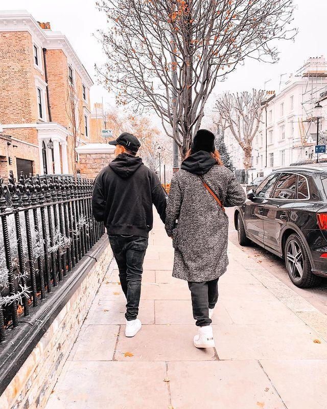 "<p>The actress shared a photograph of her and her husband walking hand-in-hand together through the streets of London in December 2020.</p><p>'Happy 2 year anniversary to the love of my life. Always by my side. My strength. My weakness. My all. I love you @nickjonas,' she captioned the sweet snap. </p><p><a href=""https://www.instagram.com/p/CIQN7SaHZQC/?utm_source=ig_web_copy_link"" rel=""nofollow noopener"" target=""_blank"" data-ylk=""slk:See the original post on Instagram"" class=""link rapid-noclick-resp"">See the original post on Instagram</a></p>"