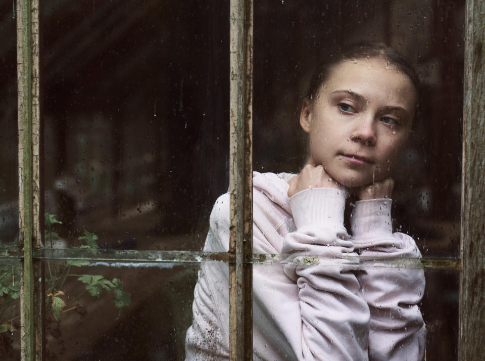 "This image released by PBS shows Greta Thunberg, the subject of the docuseries ""Greta Thunberg: A Year to Change the World."" The three-part series, a co-production between PBS and BBC Studios premieres Thursday. (Alex Board/BBC Studios/PBS via AP)"