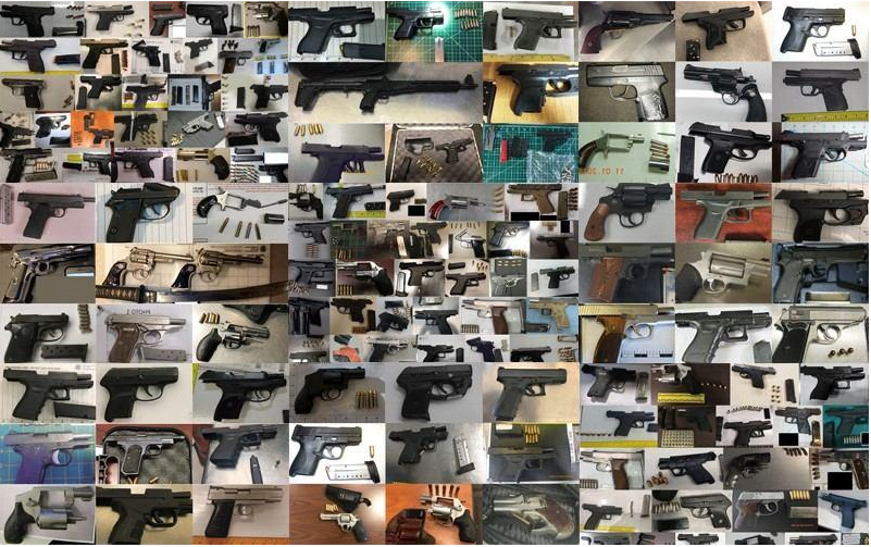 <p>A record number of guns were found in 2020</p> (Transport Security Administration)
