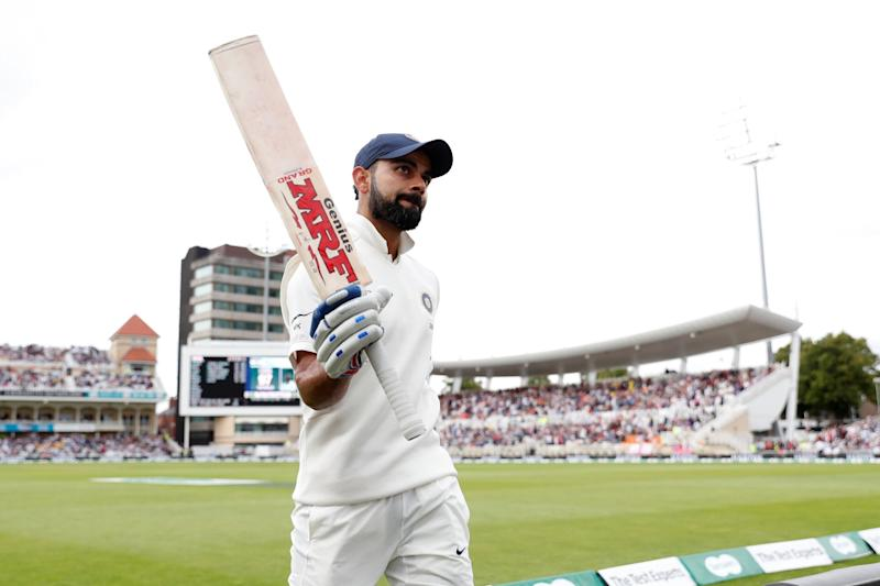 Fightback: India were on the ropes when Kohli steadied the ship in a wicketless afternoon session: REUTERS