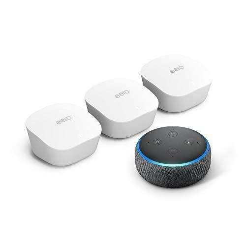 "<p><strong>eero</strong></p><p>amazon.com</p><p><strong>$199.00</strong></p><p><a href=""https://www.amazon.com/dp/B07YVVYDMJ?tag=syn-yahoo-20&ascsubtag=%5Bartid%7C2140.g.33501922%5Bsrc%7Cyahoo-us"" rel=""nofollow noopener"" target=""_blank"" data-ylk=""slk:Shop Now"" class=""link rapid-noclick-resp"">Shop Now</a></p><p>As if a wifi extender set wasn't enough to make him smile, this pack also includes a free Echo Dot. The Eero devices are designed to replace the router entirely and cover up to 5,000 square feet.</p>"