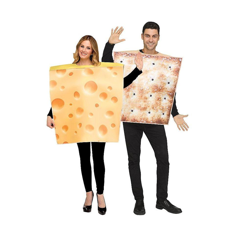 """<p><strong>See All Food Costumes</strong></p><p>partycity.com</p><p><strong>$39.99</strong></p><p><a href=""""https://go.redirectingat.com?id=74968X1596630&url=https%3A%2F%2Fwww.partycity.com%2Fadult-cheese-and-cracker-couples-costumes-P795900.html&sref=https%3A%2F%2Fwww.delish.com%2Fholiday-recipes%2Fhalloween%2Fg3038%2Fbest-food-halloween-costumes%2F"""" rel=""""nofollow noopener"""" target=""""_blank"""" data-ylk=""""slk:BUY NOW"""" class=""""link rapid-noclick-resp"""">BUY NOW</a></p><p>The best parts of a charcuterie board in costume form.</p>"""