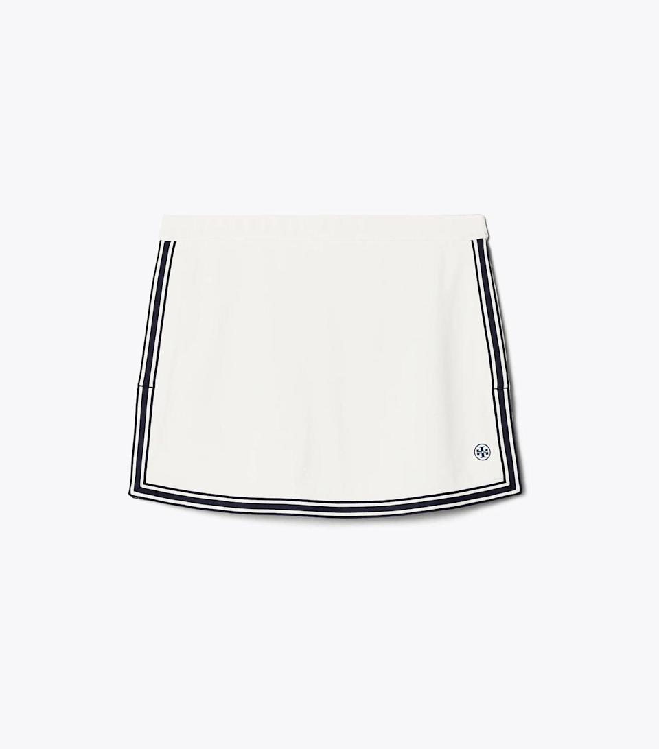 <p>This <span>Tory Sport Side-Slit Tennis Skirt</span> ($138) has a retro style that we love so much.</p>