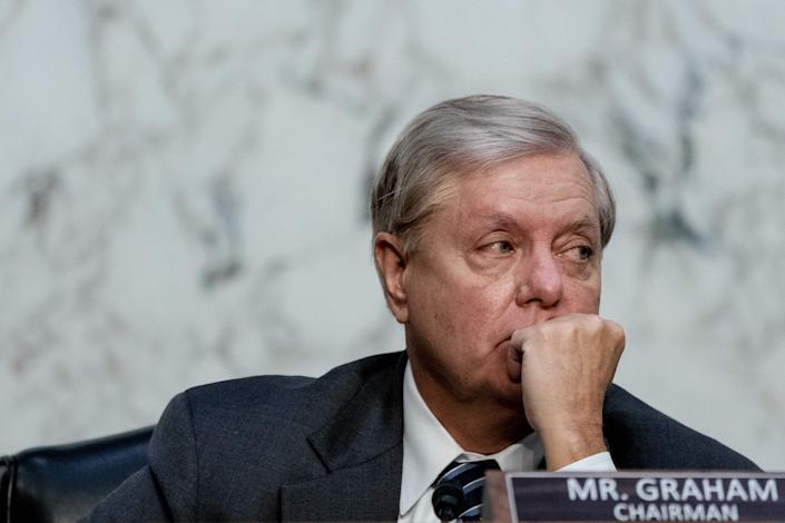2018 video shows Lindsey Graham committing not to confirm supreme court nominee in election year (POOL/AFP via Getty Images)