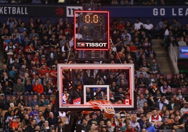 Resetting the shot clock is among the NBA's new rule changes. (Getty Images)