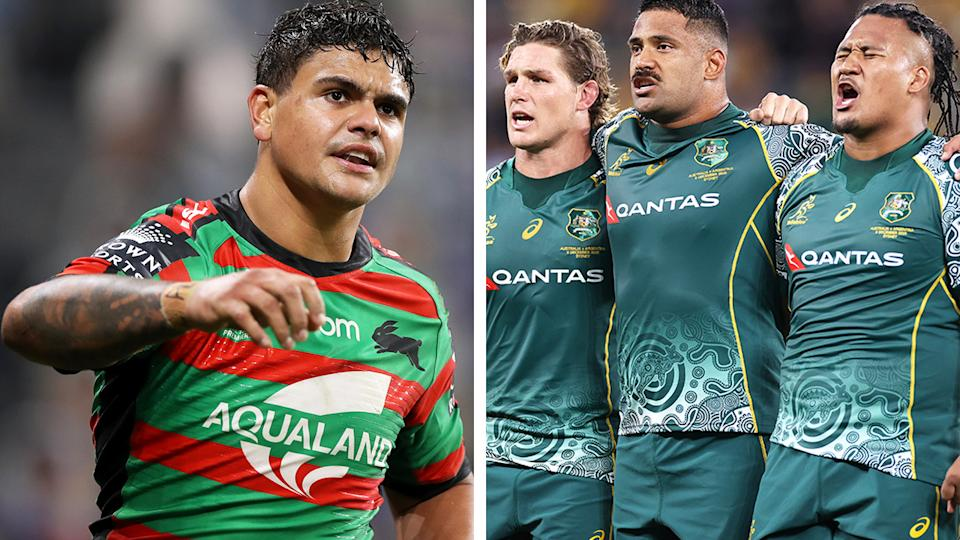 Latrell Mitchell was sceptical of the Wallabies' decision to sing the national anthem in Indigenous language.