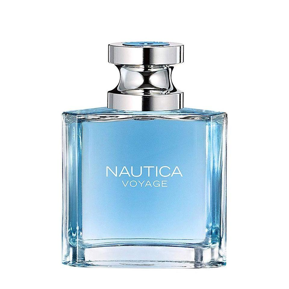 """<p><strong>Nautica</strong></p><p>amazon.com</p><p><strong>$12.88</strong></p><p><a href=""""https://www.amazon.com/dp/B000P22TIY?tag=syn-yahoo-20&ascsubtag=%5Bartid%7C2089.g.30317653%5Bsrc%7Cyahoo-us"""" rel=""""nofollow noopener"""" target=""""_blank"""" data-ylk=""""slk:Shop Now"""" class=""""link rapid-noclick-resp"""">Shop Now</a></p><p>Your teen is ready to find the scent that they can wear to school and out on their first date. Nautica Voyage by Nautica for Men is a vibrant scent that evokes emotions of summertime freedom with a thread of cedarwood throughout. </p>"""