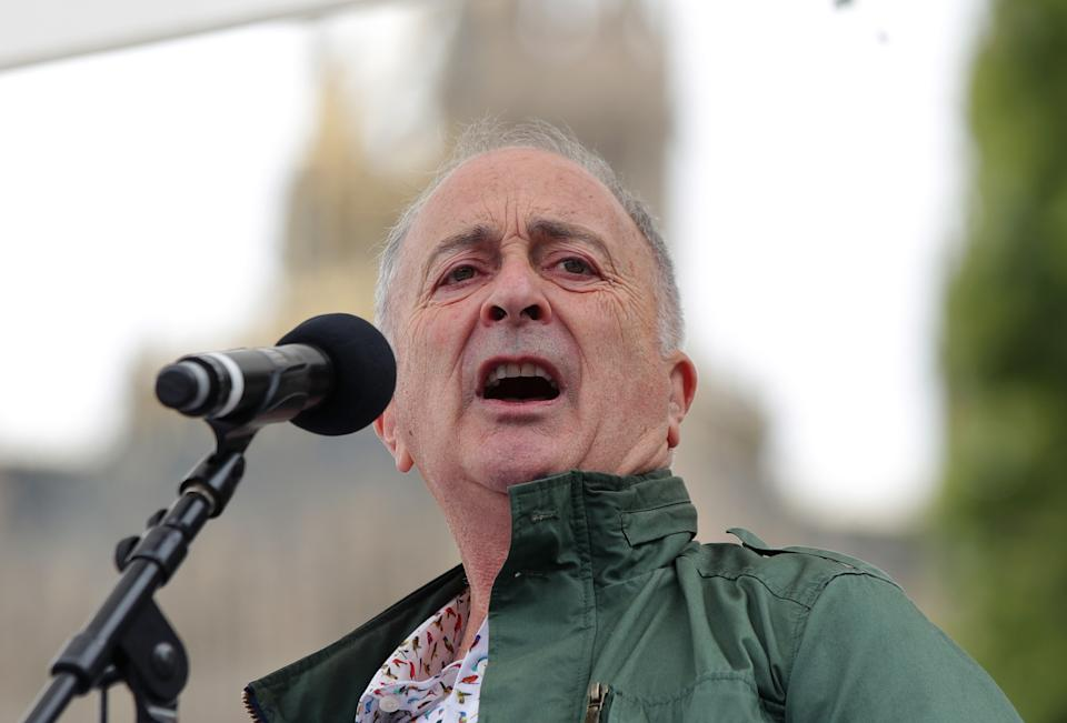 File photo dated 06/09/17 of Actor Tony Robinson, a former member of Labour's ruling National Executive Committee, who has quit the party.