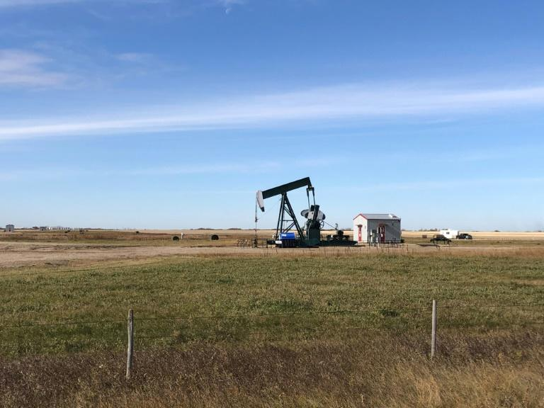 An oil rig in Canada, which recorded slowing GDP growth in the third quarter of 2019