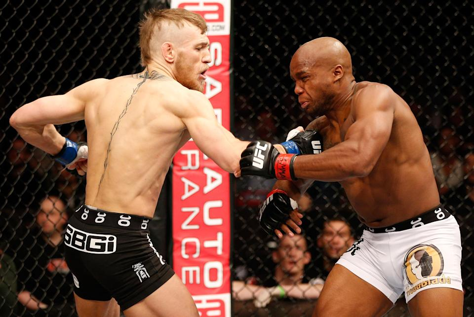 Conor McGregor needed just 67 seconds to dispatch Marcus Brimage in his UFC debut at the Ericsson Globe Arena on April 6, 2013, in Stockholm. (Getty Images)
