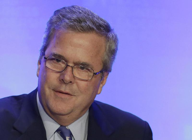 FILE - In this Feb. 26, 2013 file photo, former Florida Gov. Jeb Bush speaks in Austin, Texas. Jeb Bush has long resisted pressure from supporters to run for president. Now the former Florida governor is signaling that he's at least open to the idea, a shift that comes as he promotes a new book and as a divided Republican Party struggles to right itself.  (AP Photo/Eric Gay, File)