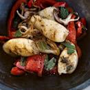 "<p>In the summer, grilling > frying when it comes to calamari, and here its paired up beautifully with mint and grilled red peppers. </p><p>Get the recipe from <a href=""https://www.delish.com/cooking/recipe-ideas/recipes/a5563/grilled-calamari-red-pepper/"" rel=""nofollow noopener"" target=""_blank"" data-ylk=""slk:Delish"" class=""link rapid-noclick-resp"">Delish</a>.</p>"