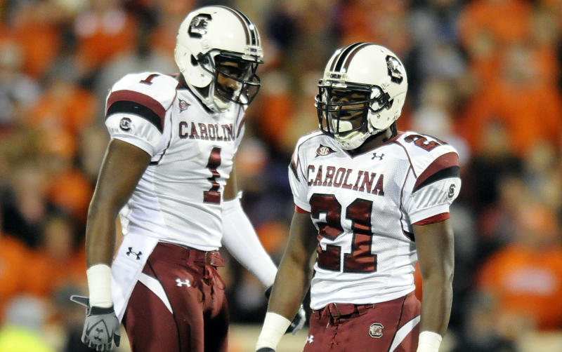 Alshon Jeffery and Marcus Lattimore played together at South Carolina. (AP Photo/ Richard Shiro)
