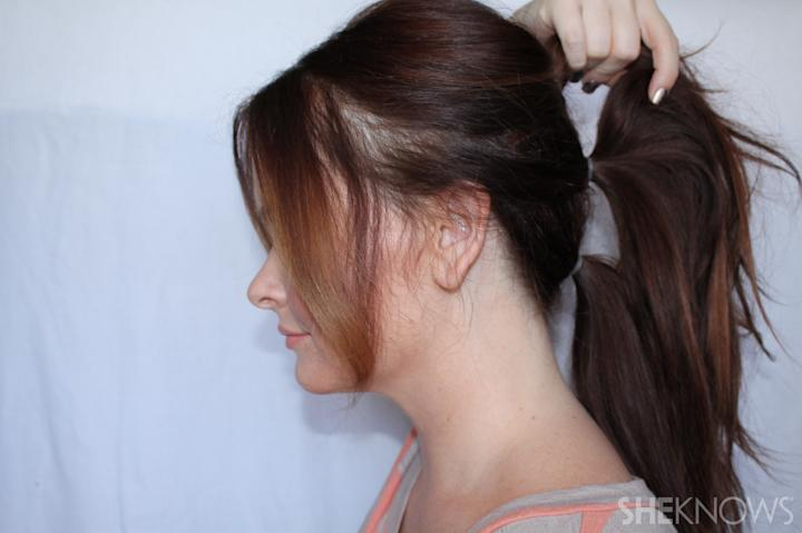 Fashionista Ponytail | Sheknows.com - step 02
