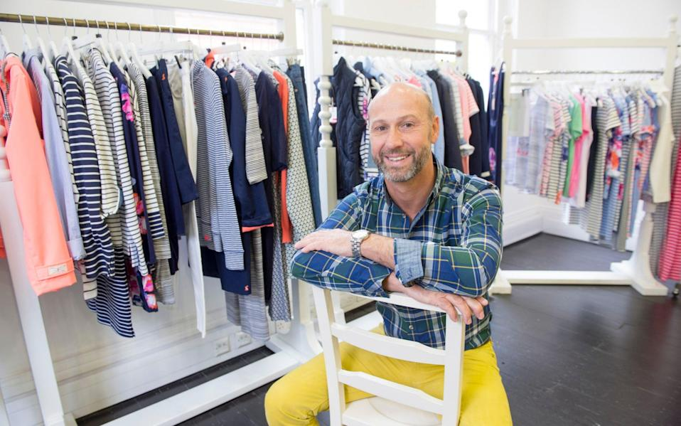 Tom Joule founded Joules om 1989 when he started selling clothes on a stand at a country show in Leicestershire - Paul Grover /Telegraph