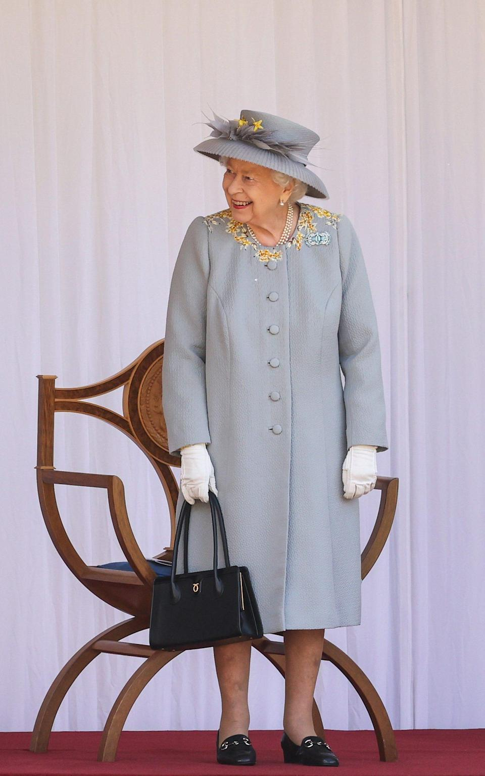 The Queen at Windsor Castle, marking her official birthday - Chris Jackson