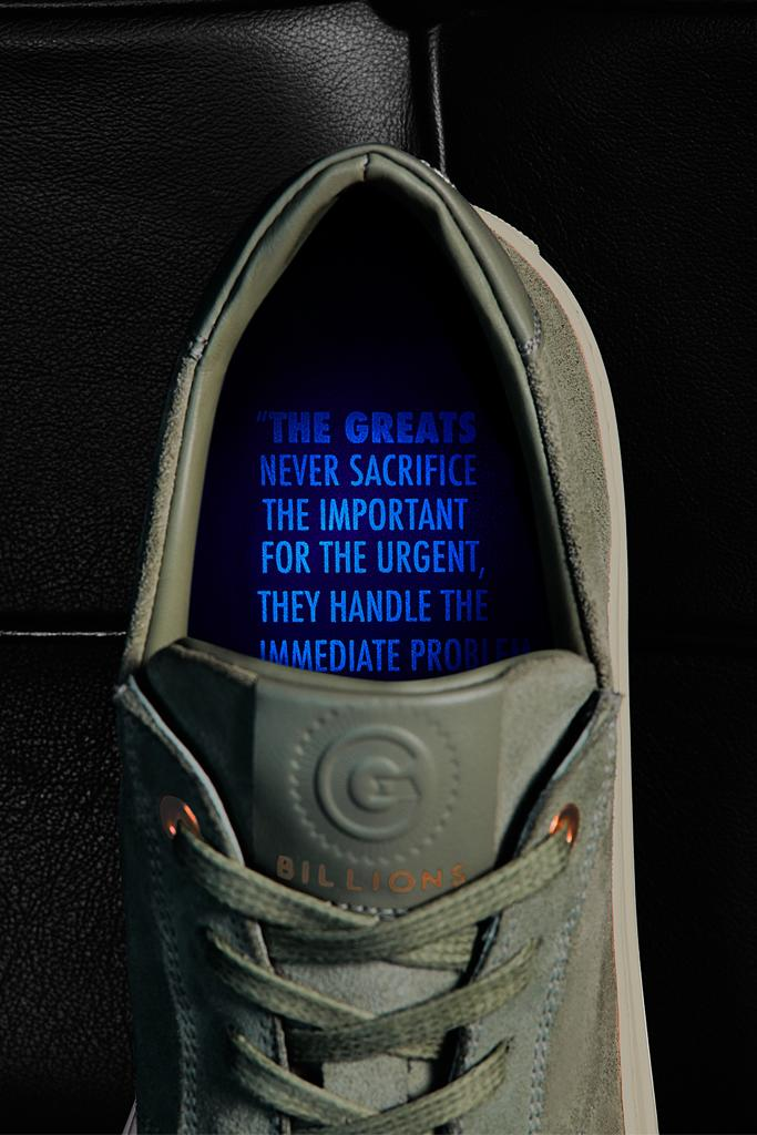 The Greats x Billions collab sneakers feature a hidden message inside.