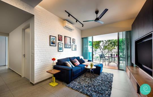 10 most popular homes in singapore 2015 for Living room ideas hdb
