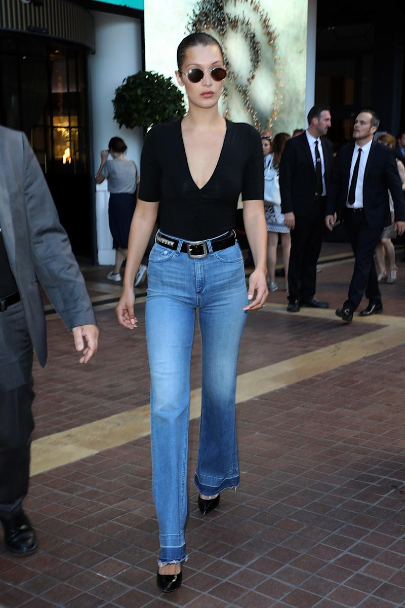 Bella Hadid is spotted at the Majestic Hotel during the 70th annual Cannes Film Festival at on May 20, 2017 in Cannes, France.