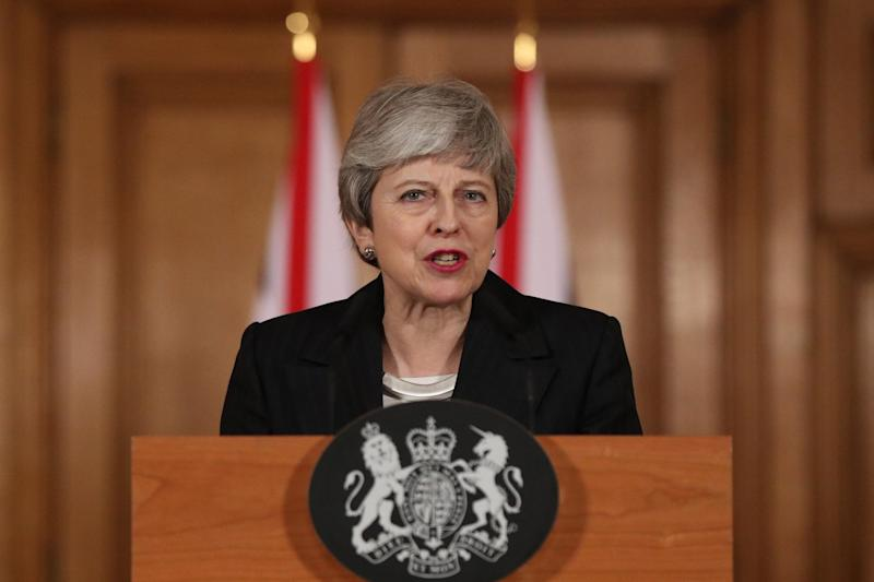 Under pressure: Theresa May (AFP/Getty Images)