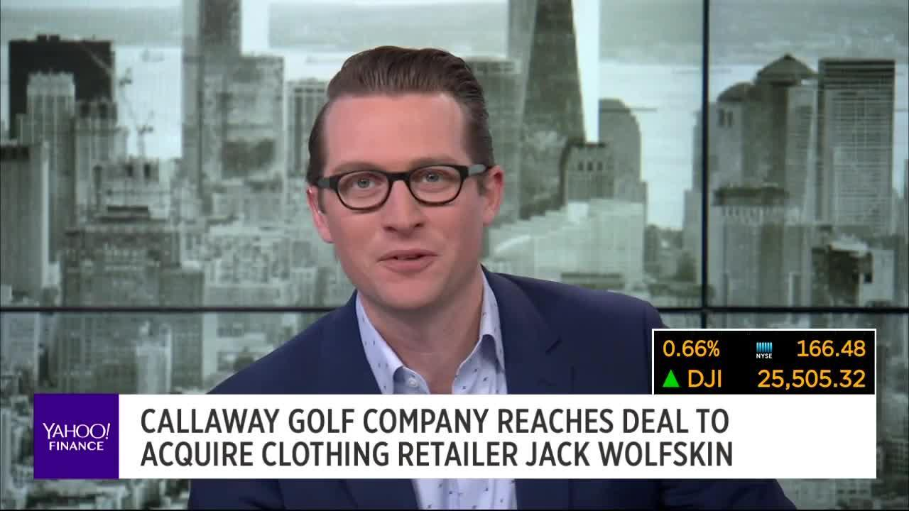 9baa4d00ae Callaway Golf Company reaches deal to acquire clothing retailer Jack  Wolfskin [Video]