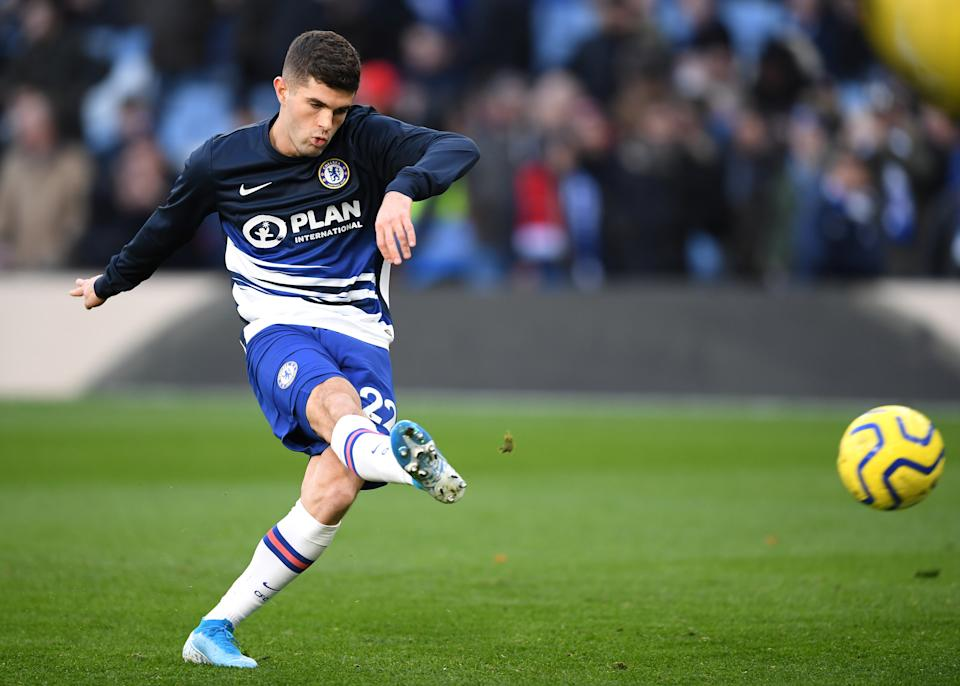 Christian Pulisic could return from injury to play for Chelsea against Leicester City this weekend. (Darren Walsh/Getty)