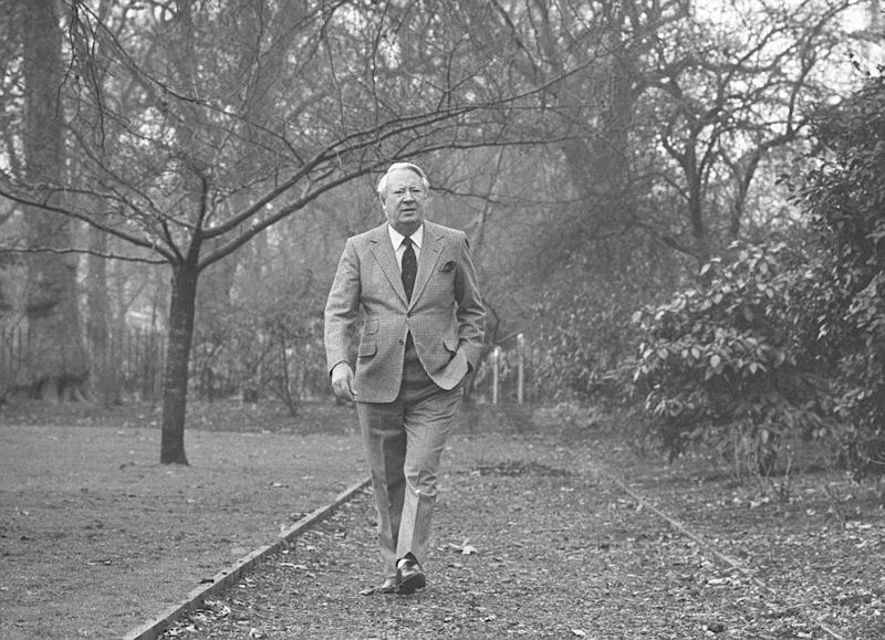 Edward Heath pictured in 1985 (PA Archive)