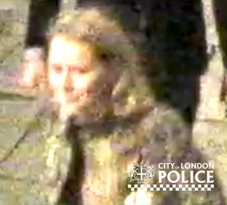 City of London Police have released images of two people they would like to speak to after a woman was raped in central London on December 7. (City of London Police)