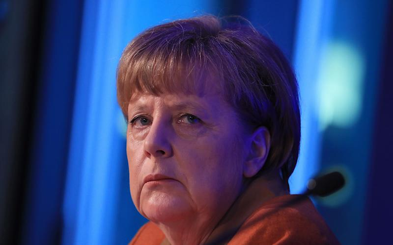 Angela Merkel, Germany's chancellor and leader of the Christian Democratic Union (CDU)