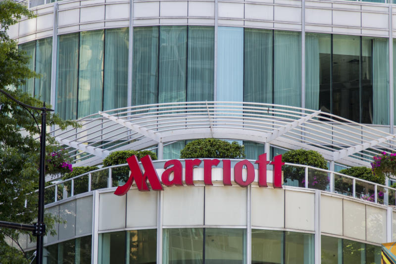 June 17, 2018 - Vancouver, BC, Canada: Marriott International is an American multinational diversified hospitality company that manages and franchises a broad portfolio of hotels and related lodging facilities