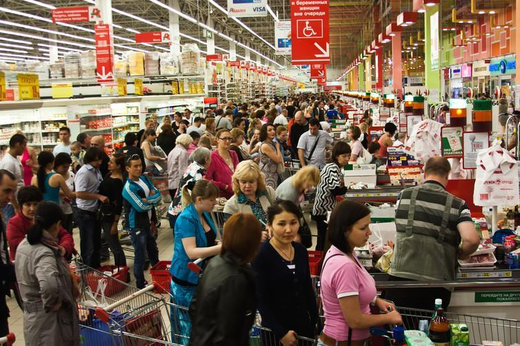 "<span class=""caption"">Never mind the queue, I picked the wrong shop.</span> <span class=""attribution""><span class=""source"">Shutterstock</span></span>"