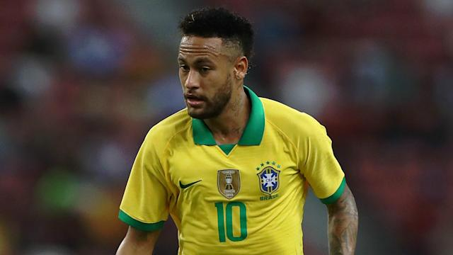 Paris Saint-Germain star Neymar was substituted in the 12th minute of Brazil's clash with Nigeria due to a suspected hamstring issue.