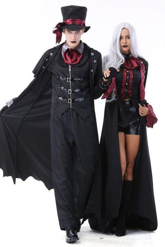 """<p>Who needs to be Bella and Edward from <em>Twilight</em> when you dress up as this epic, Victorian-esque vampire couple for Halloween?</p><p><a class=""""link rapid-noclick-resp"""" href=""""https://go.redirectingat.com?id=74968X1596630&url=https%3A%2F%2Fwww.bonanza.com%2Flistings%2FHalloween-Couples-Costumes-Patry-Clothes-Cosplay-Vampire-Earl-Court-Costumes%2F647362982&sref=https%3A%2F%2Fwww.womansday.com%2Fstyle%2Fg28669645%2Fscary-halloween-couples-costumes%2F"""" rel=""""nofollow noopener"""" target=""""_blank"""" data-ylk=""""slk:SHOP VAMPIRE COSTUME SET"""">SHOP VAMPIRE COSTUME SET</a></p>"""