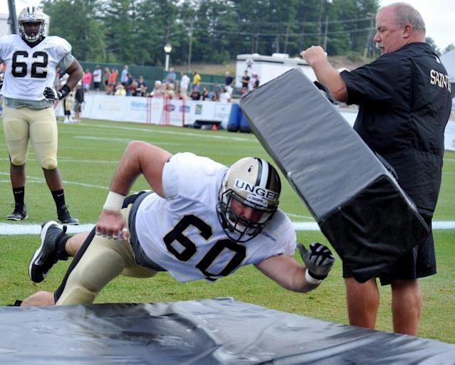 "Saints center <a class=""link rapid-noclick-resp"" href=""/nfl/players/9313/"" data-ylk=""slk:Max Unger"">Max Unger</a> reportedly could miss the start of the season with a foot injury. (AP)"