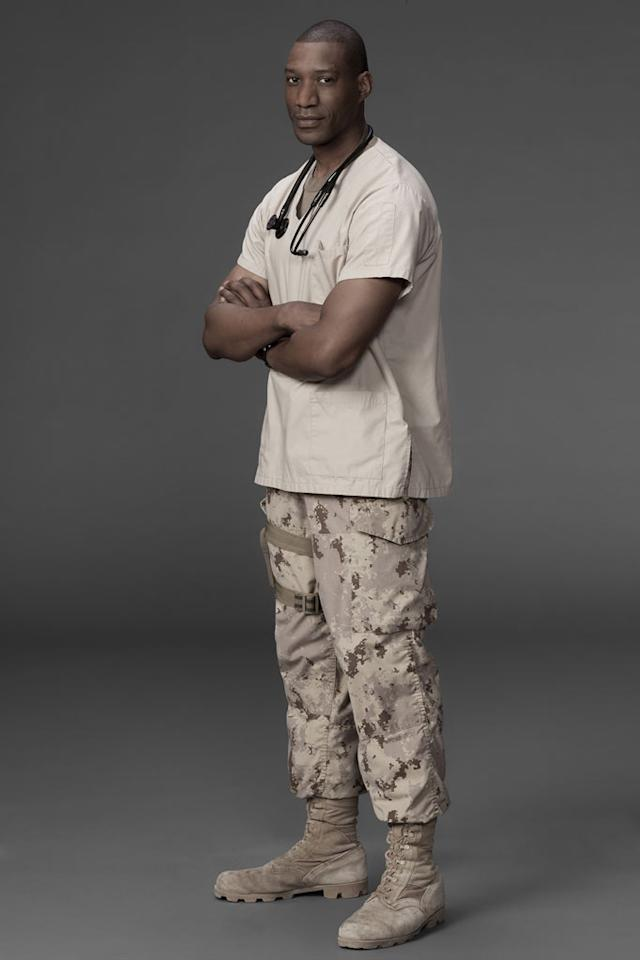 "Arnold Pinnock stars as Commander Will Royal in ""Combat Hospital."""