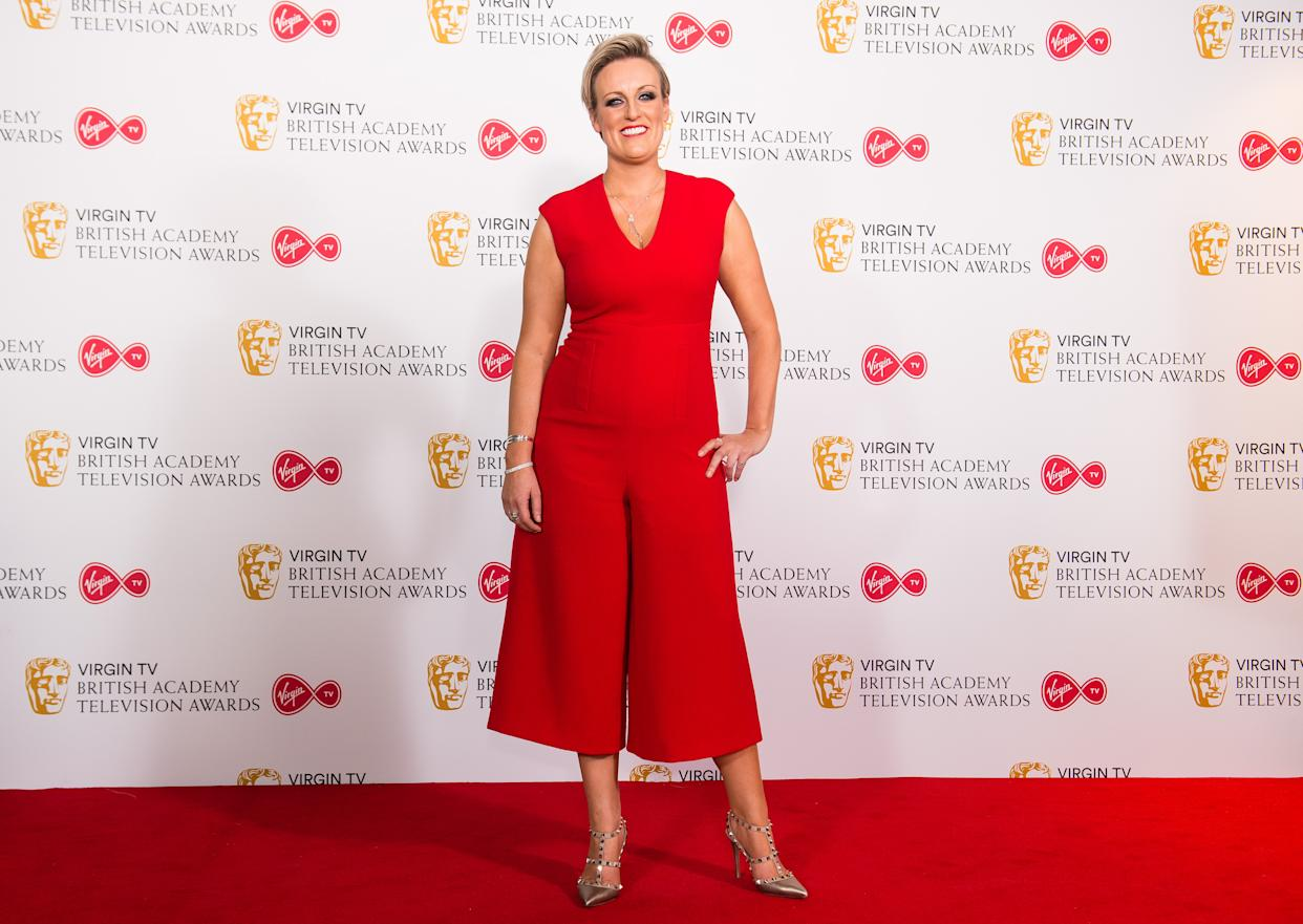 LONDON, ENGLAND - MAY 13:  Steph McGovern poses in the press room at the Virgin TV British Academy Television Awards at The Royal Festival Hall on May 13, 2018 in London, England.  (Photo by Jeff Spicer/Getty Images)