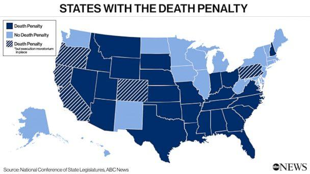 PHOTO: States with the Death Penalty (ABC News, National Conference of State Legislatures)