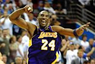 Kobe Bryant went five long years between Finals appearances, and he made the most of it upon his return, leading the Lakers to a five-game title victory against the Orlando Magic. (Ronald Martinez/Getty Images)